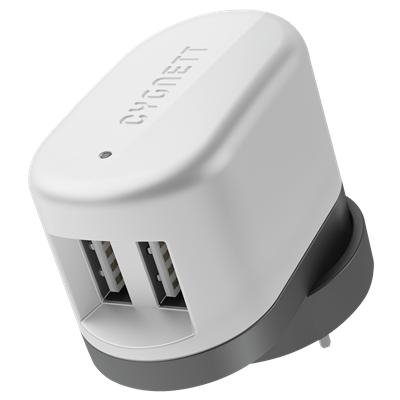 [CY1094POPB2] Cygnett Power Base 2 USB wall charger USB AC Charger 2.1A (No Cable) AU